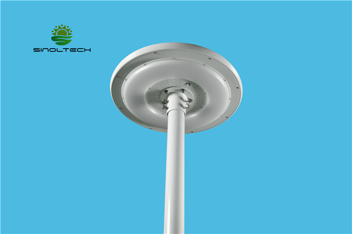 Round shape solar garden light