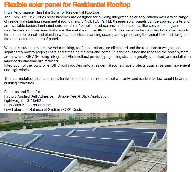 thin film flexible solar pv