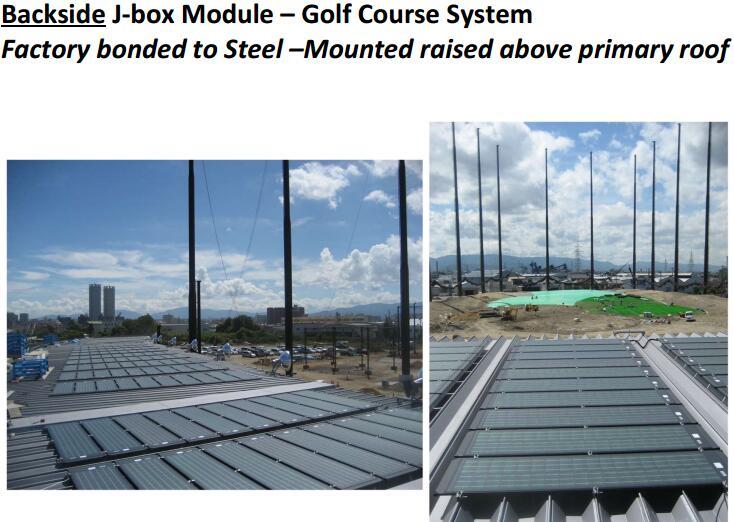 flexible solar panel for golf course