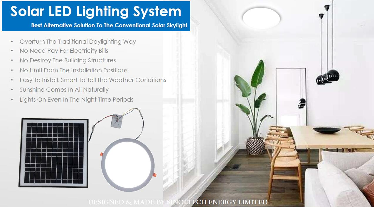 sinoltech solar led panel ceiling lamp
