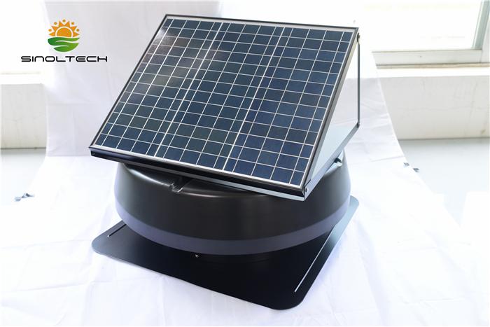 large power solar roof attic fan