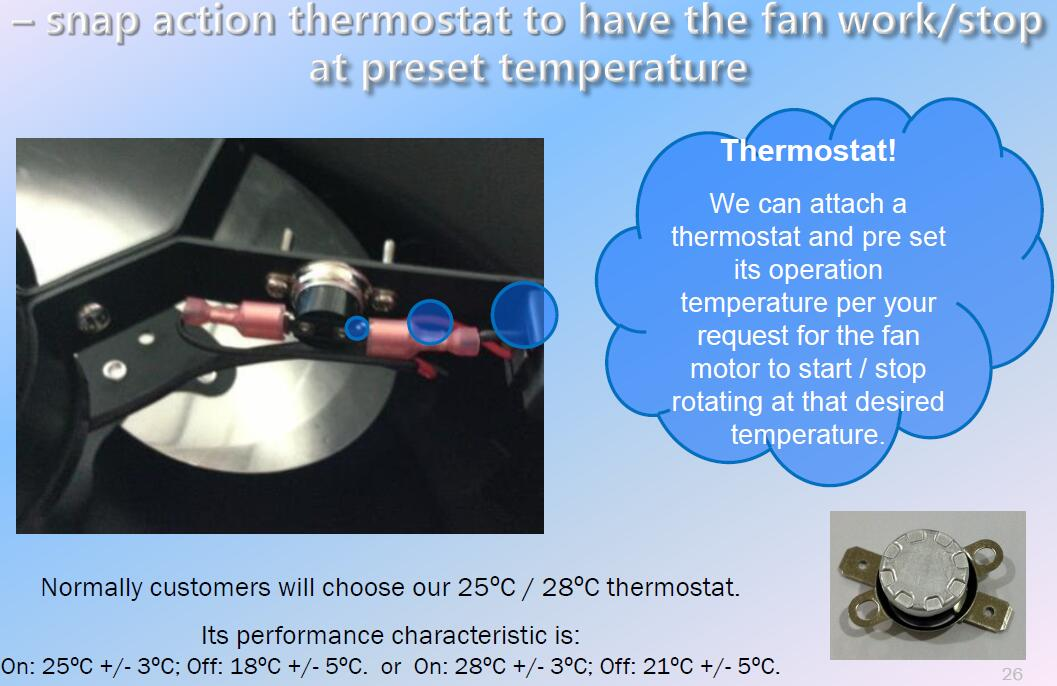 thermostat for solar roof attic fan