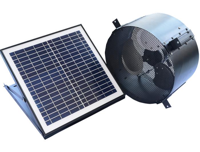 Wall mount solar gable fan