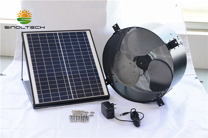 AC support solar fan