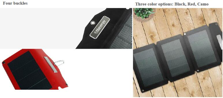8W folding solar charger