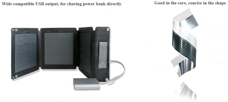 12W folding solar charger