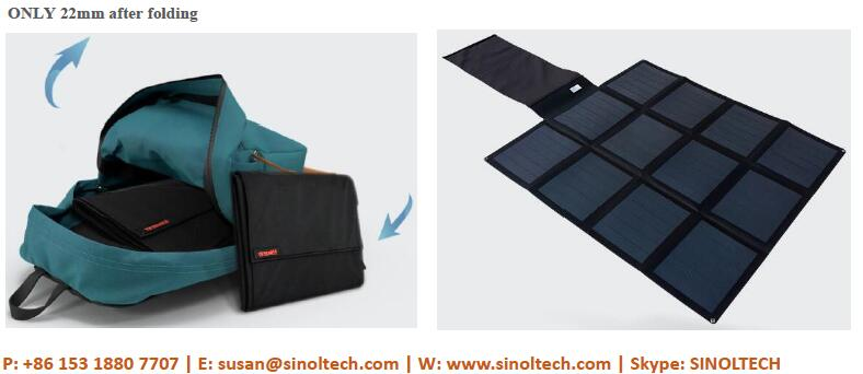 97W folding solar charger