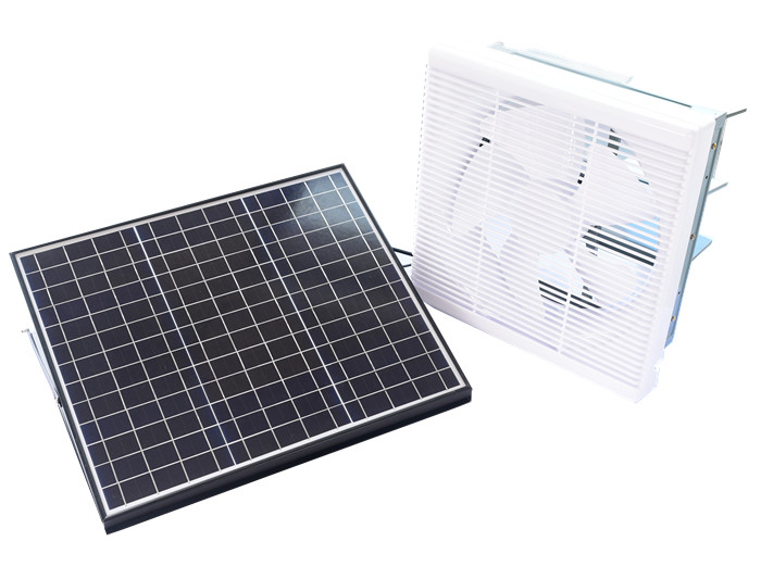 lauvered solar exhaust fan-indoor use