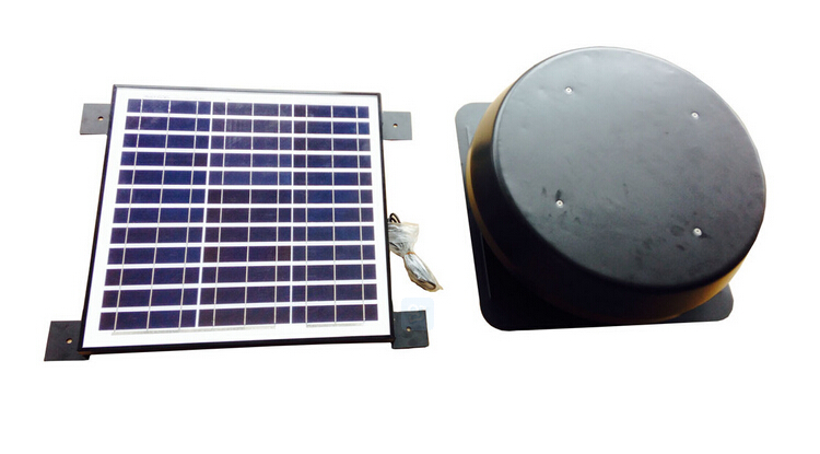 split type solar exhaust roof ventilator