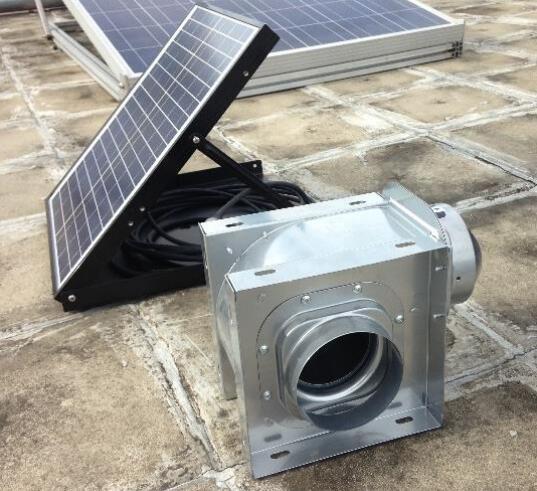 ceiling mount solar air exhaust fan