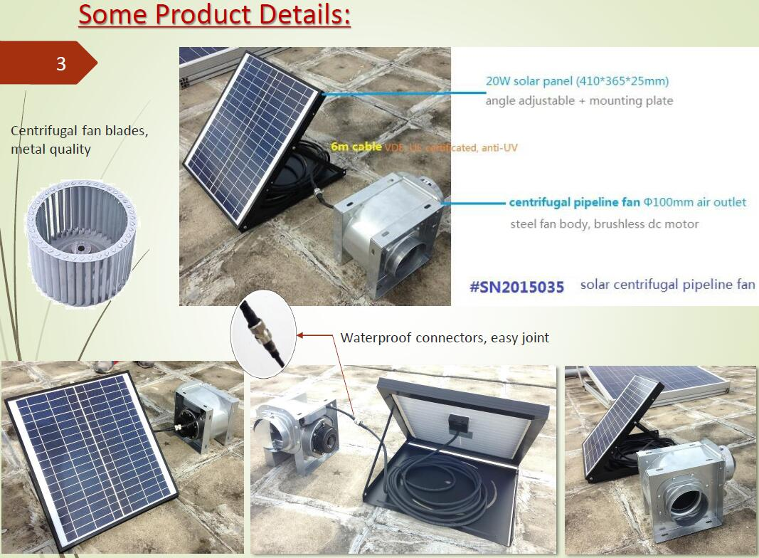 30w 6 Inch Solar Ceiling Air Blower