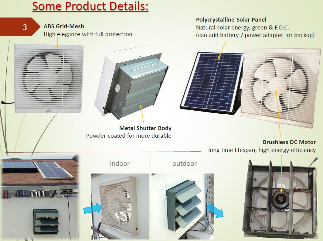 solar ABS indoor fan