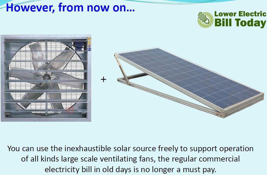 solar wall mount fan