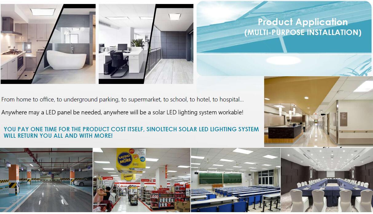 Solar led light for ceiling