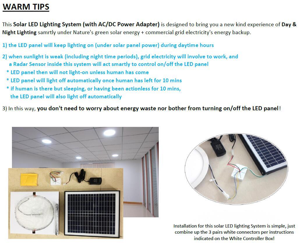 solar led ceiling lighting