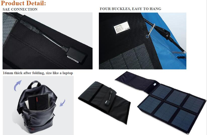 48W CIGS Solar charger