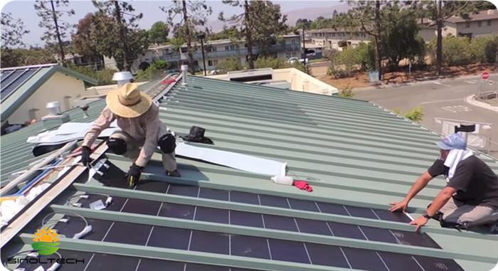 metal roofing flexible pv