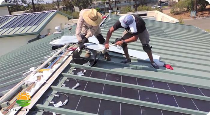 standing seam flexible solar pv panel