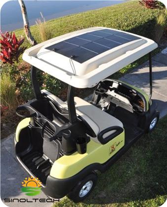 flexible PV for golf cart