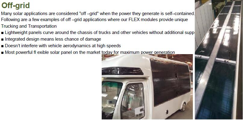 flexible solar panel for off grid solution