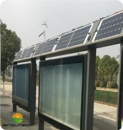 semi flexible PV for bus stop roof