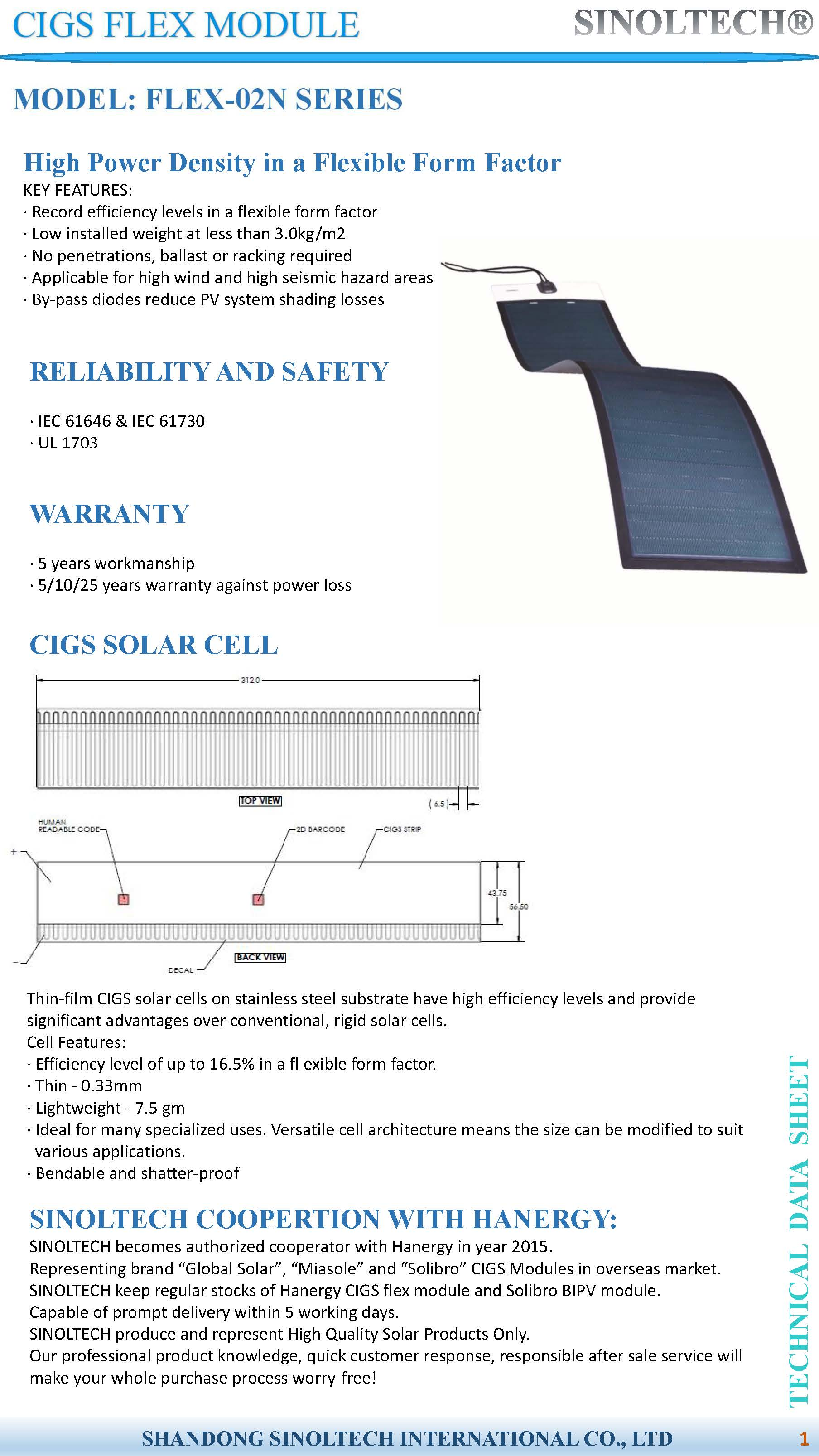Cigs Flex Solar Modulemiasole Panel With Corrugated Thin Film Cells On Wiring Panels In 370mm Width Flexible Module Miasole Pv
