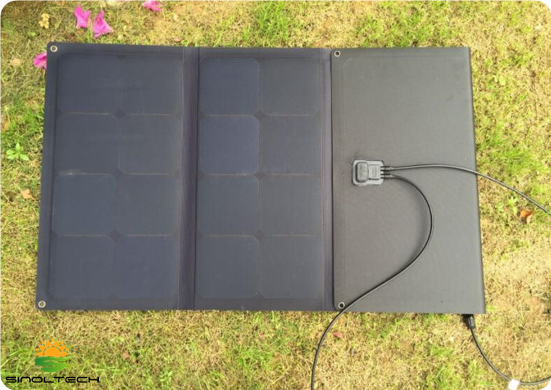 100W folding solar panel charger