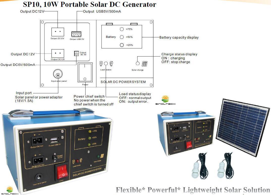 SP10, Portable solar generator