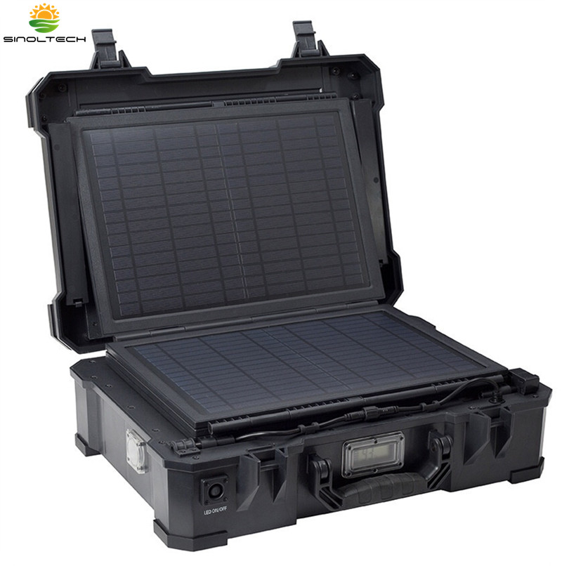 50W solar generator with built in lithium battery and folding solar panel