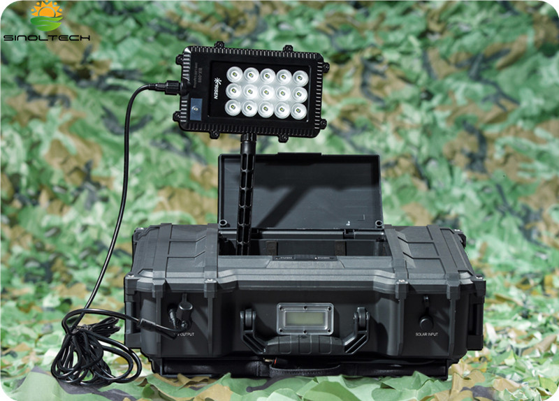 55W Solar power generator with built-in LED