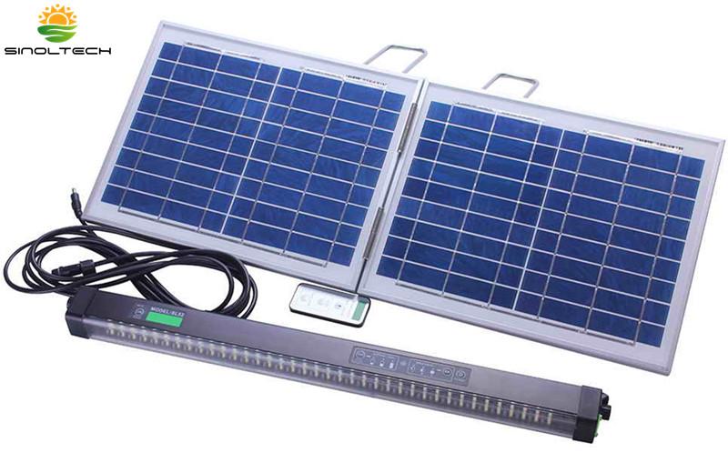 portable outdoor solar powered led lighting kit