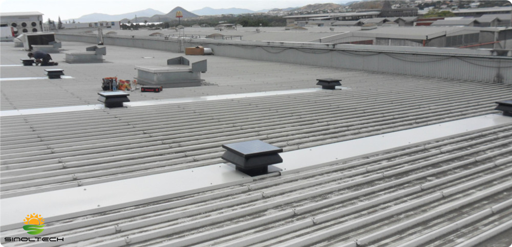 roof solar air circulation fan