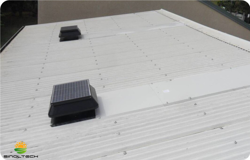 roofmount solar powered warehouse ventilation fan