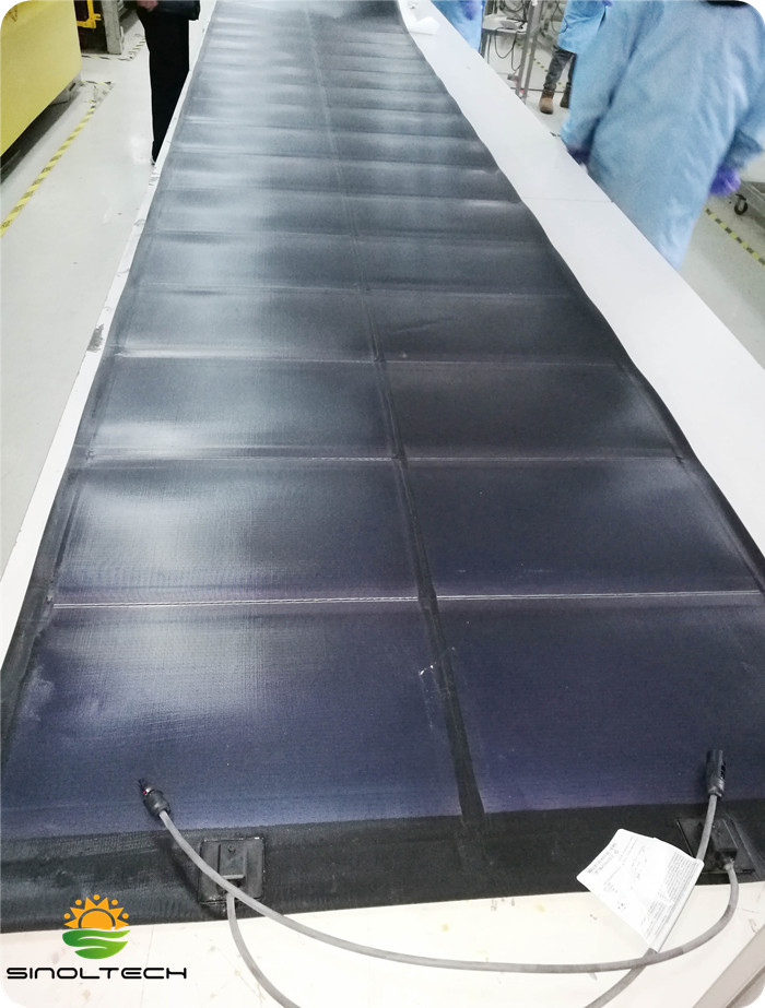 291W thin film flexible solar module